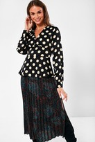 Iclothing iClothing Rhiannon Polka Dot Blouse in Black