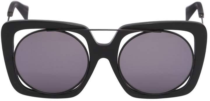 Yohji Yamamoto Large Squared Frame In Frame Sunglasses