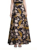 Alice + Olivia Rachele Paisley Printed Long Skirt