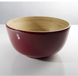 Bibol - 24cm Cherry Lacquered Bamboo Tchon Salad Bowl