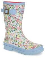 Joules Floral Print Rain Boot (Walker, Toddler, Little Kid & Big Kid)