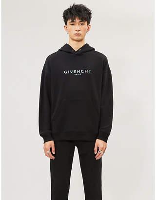 Givenchy Iridescent logo-print cotton-jersey hoody