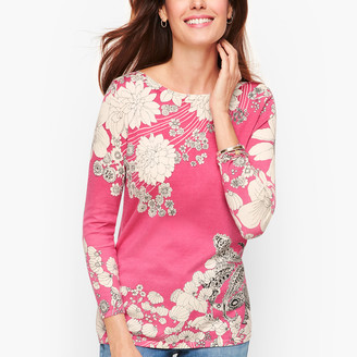 Talbots Floral Paisley Sweater