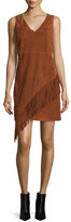 Diane von Furstenberg Jenn Suede Fringe Dress, Whisky Brown