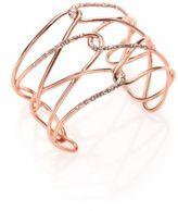 Alexis Bittar Miss Havisham Liquid Crystal Barbed Cuff Bracelet/Rose Goldtone