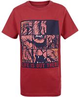 Fat Face Children's Lion Puzzle T-Shirt, Red