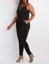 Charlotte Russe Plus Size Caged Sweetheart Jumpsuit