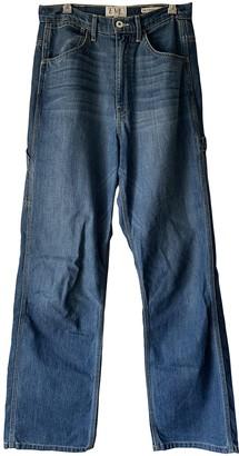 Eve Denim Blue Cotton Trousers for Women