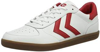 Hummel Victory Leather, Unisex Adults' Low-Top Sneakers, White, (43 EU)