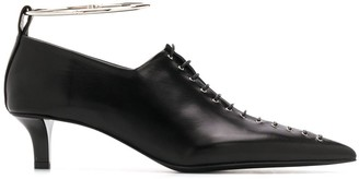 Jil Sander Ankle Bracelet Lace-Up Pumps