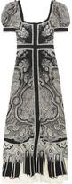 Alexander McQueen Paisley-print Silk Crepe De Chine Midi Dress - Black