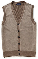 Roundtree & Yorke Solid Twill Button Vest