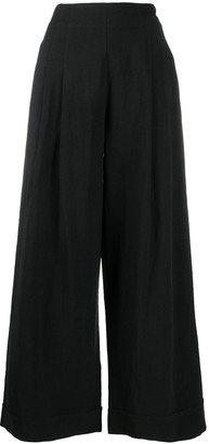 Stefano Mortari High-Rise Pleated Wide-Leg Trousers