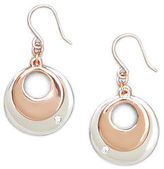 Kenneth Cole Round Disc Drop Earrings