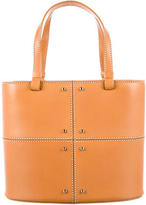 Tod's Leather Topstitched Satchel