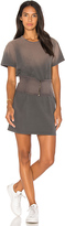Monrow Sun Wash Corset Dress in Charcoal. - size L (also in M,S,XS)