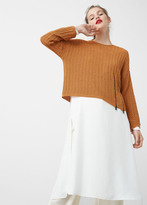 MANGO Zip Cotton Sweater
