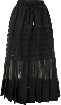 Lee Mathews Callie pleated midi skirt