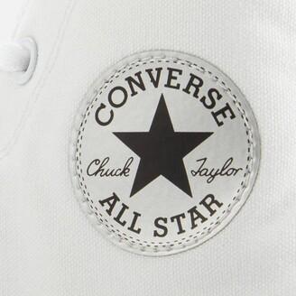 Converse Chuck Taylor All Star Mono Metal Hi-Top Trainers - White/Pure Silver