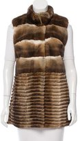 Glamour Puss Glamourpuss Fur Collared Vest w/ Tags