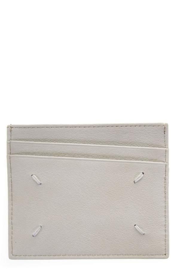 Maison Margiela Two Tone Cardholder In Leather