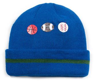 Kidorable Boys' Beanies blue - Blue Sports Beanie - Toddler