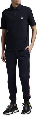 Moncler Men's Retro Logo-Patch Polo Shirt