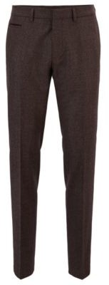 Extra-slim-fit virgin-wool pants with piping details