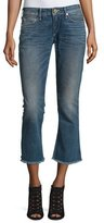 True Religion Karlie Bell-Bottom Cropped Jeans, Blue Z