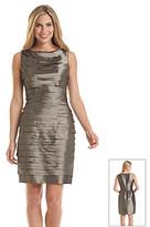London Times Taffeta Shutter Front Dress