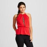 Women's Embellished Neck Peplum Top - XOXO (Juniors')