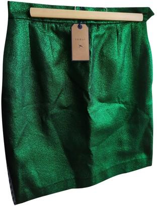 soeur Green Glitter Skirt for Women