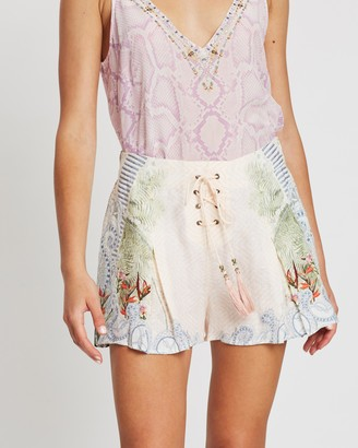 Camilla Lace-Up Front Shorts