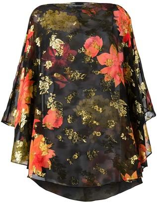 HANEY Barbara floral print blouse