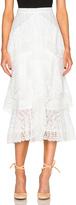 Erdem Simone Crochet Lace Skirt