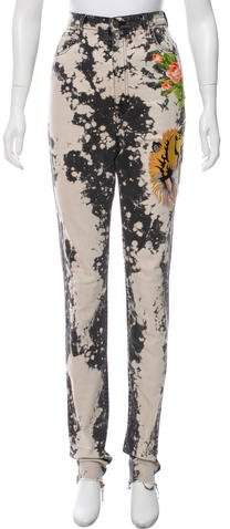 Gucci Embroidered High-Rise Jeans