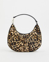 Who What Wear Seeley 90s shoulder bag in leopard