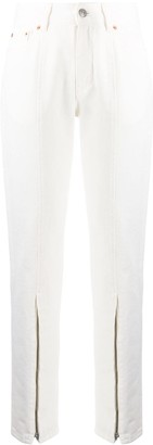 MM6 MAISON MARGIELA Zip Front Tapered Leg Trousers