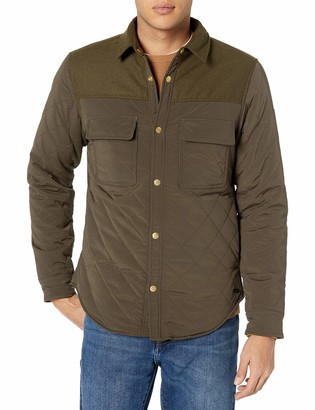Scotch & Soda Men's Quilted Shirt Jacket in Mix & Match Wool/Nylon Quality