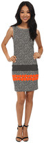 Nicole Miller Taylor Glow Jacquard Sheath Dress