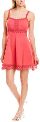 Charo Ruiz Ibiza Lace-Trim Mini Dress