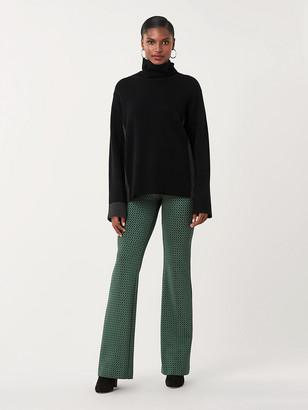 Diane von Furstenberg Caspian Knit Jacquard Flare Pants