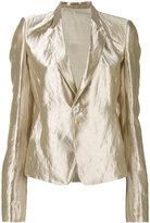 Rick Owens metallic blazer - women - Silk/Polyester/Cupro/Metallic Fibre - 44