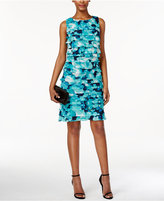 Jessica Howard Petite Printed Tiered Shift Dress