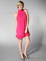 Short Sleeve Halter Dress in Poppy Pink