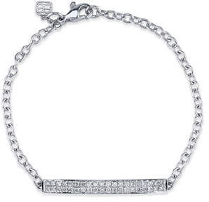 Sydney Evan Pave Diamond ID Bracelet in 14K White Gold