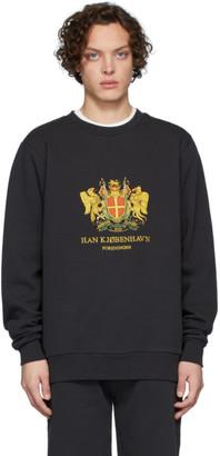 Han Kjobenhavn Black Artwork Crew Sweatshirt