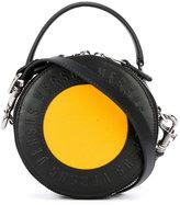 Versus round logo clutch - women - Cotton/Leather - One Size