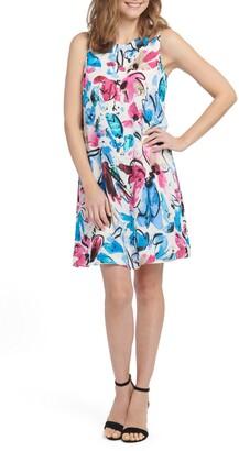 Nic+Zoe Vibrant Flora Sleeveless A-Line Dress