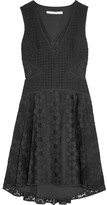 Diane von Furstenberg Fiorenza Cady-trimmed Crocheted Lace Dress - Black